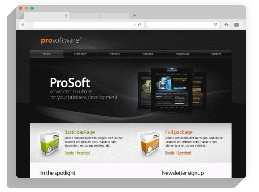 шаблон 1с-Битрикс ProSoftware